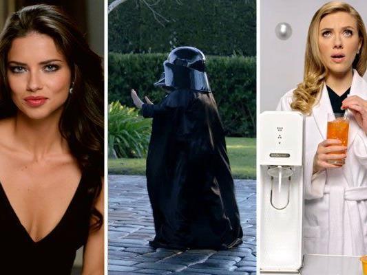 Auch Stars wie Adriana Lima und Scarlet Johansson werben während des Super Bowls.