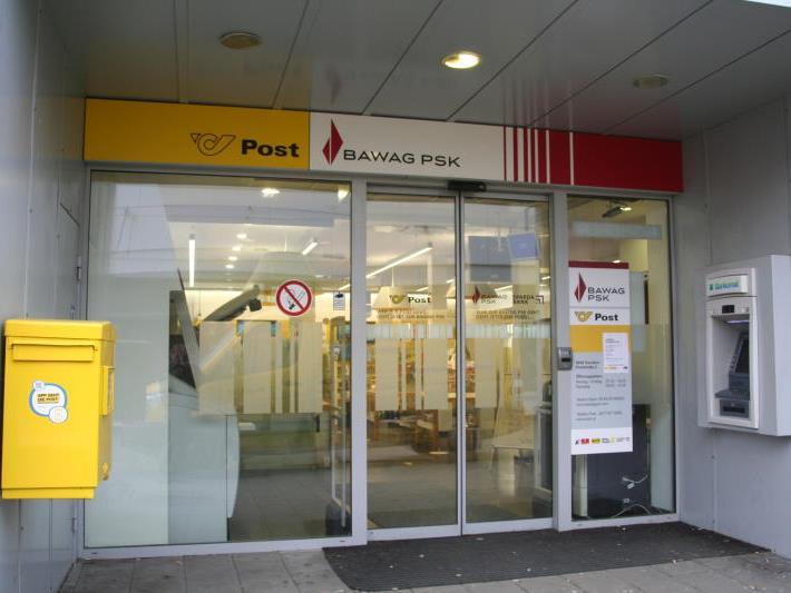 BAWAG-PSK-Filiale in Dornbirn: Der Eintritt durch diese Tür brachte dem Beschuldigten einiges an Ärger ein.