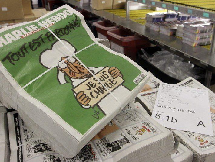"""Heute, Mittwoch, erscheint die Satire-Ausgabe """"Charlie Hebdo"""" in millionenfacher Auflage."""