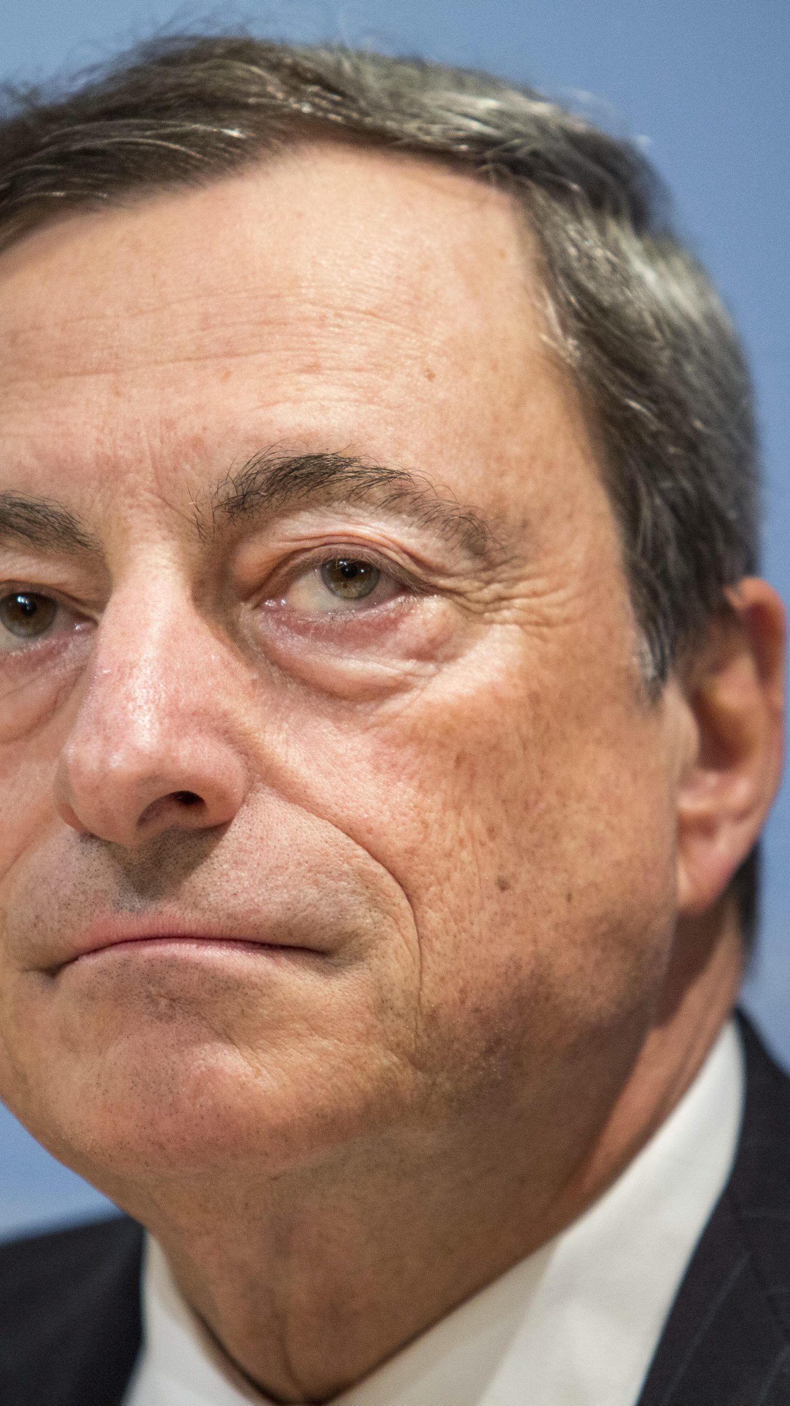 Sorgenvolle Miene bei EZB-Präsident Mario Draghi.