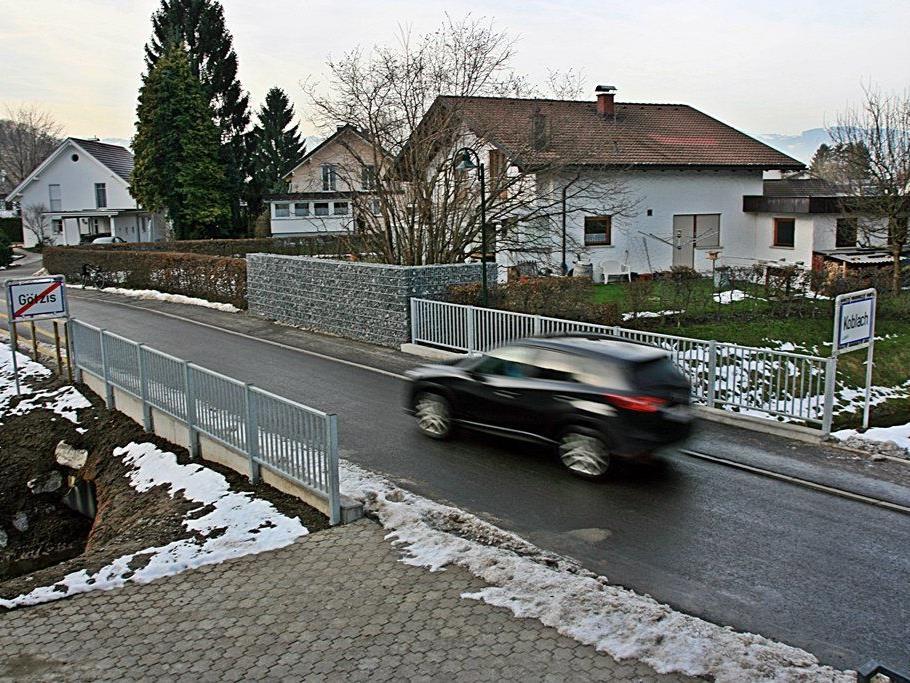Die neue Egelseegrabenbrücke an der Ortsgrenze Götzis/Koblach bewährt sich in der Praxis.