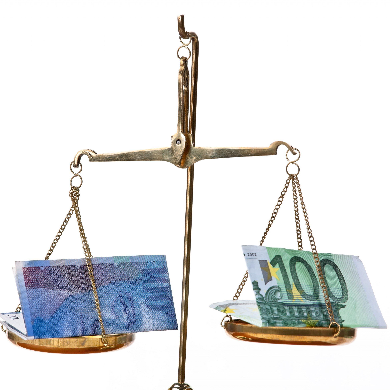 Eurokurs und Frankenkurs sind derzeit fast pari