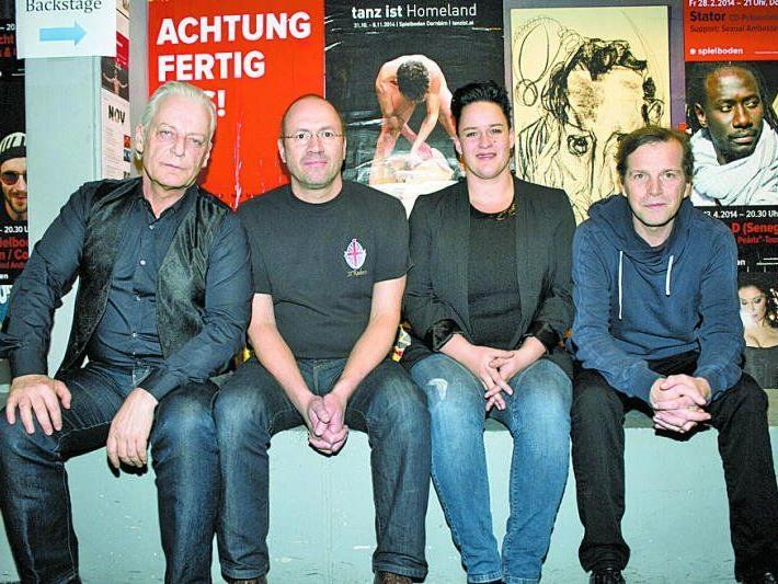 U.a. mit dabei, v. l.: Harry Marte, Bernie Weber, Martina Breznik und Markus Kreil.