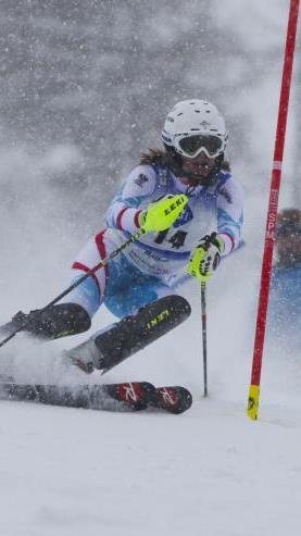 Die Göfnerin Katharina Liensberger wurde im EYOF-Slalom Dritte und gewinnt die Bronzemedaille.