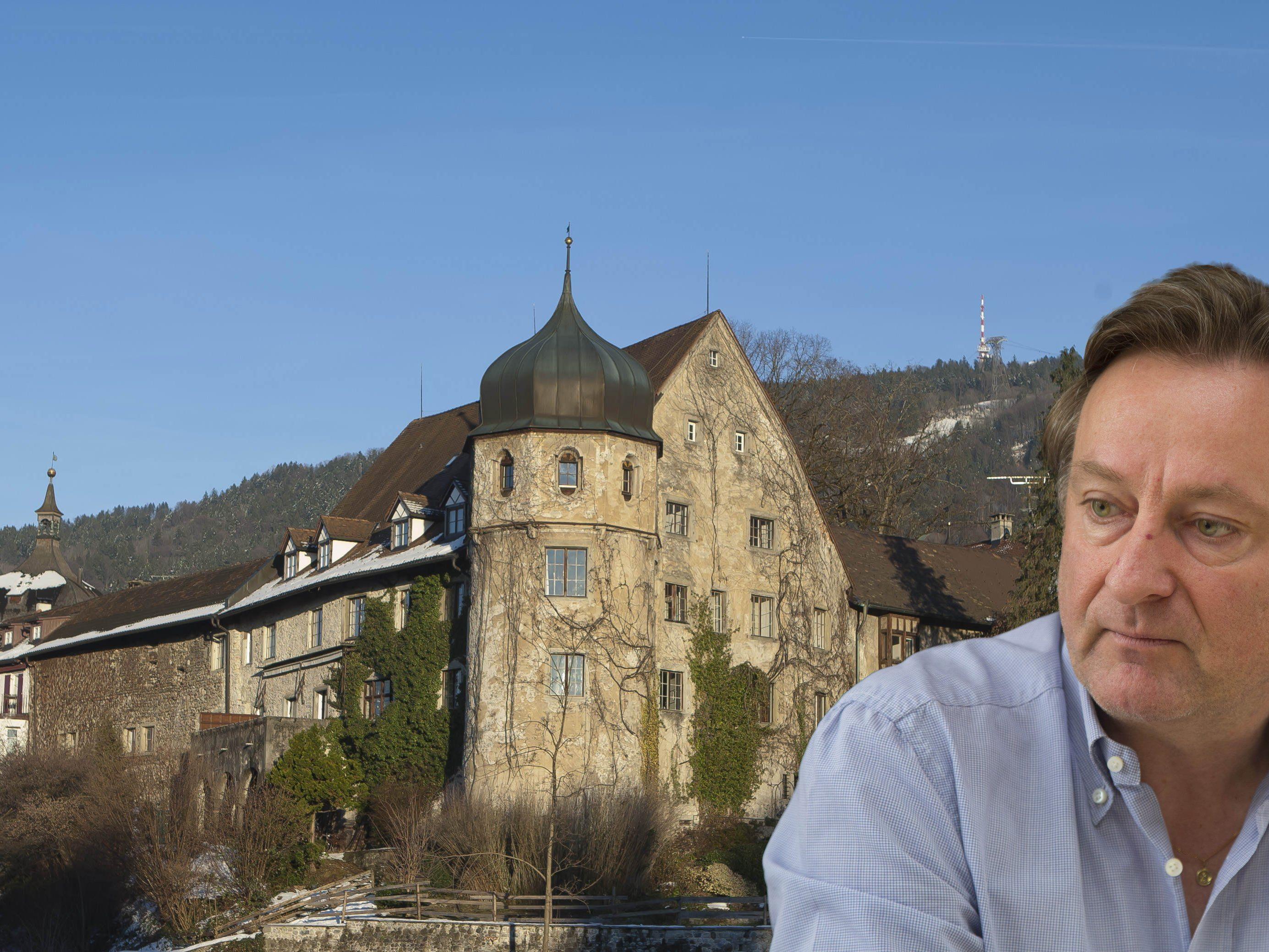 Heino Huber: Sein Deuringschlössle steht vor dem Aus.