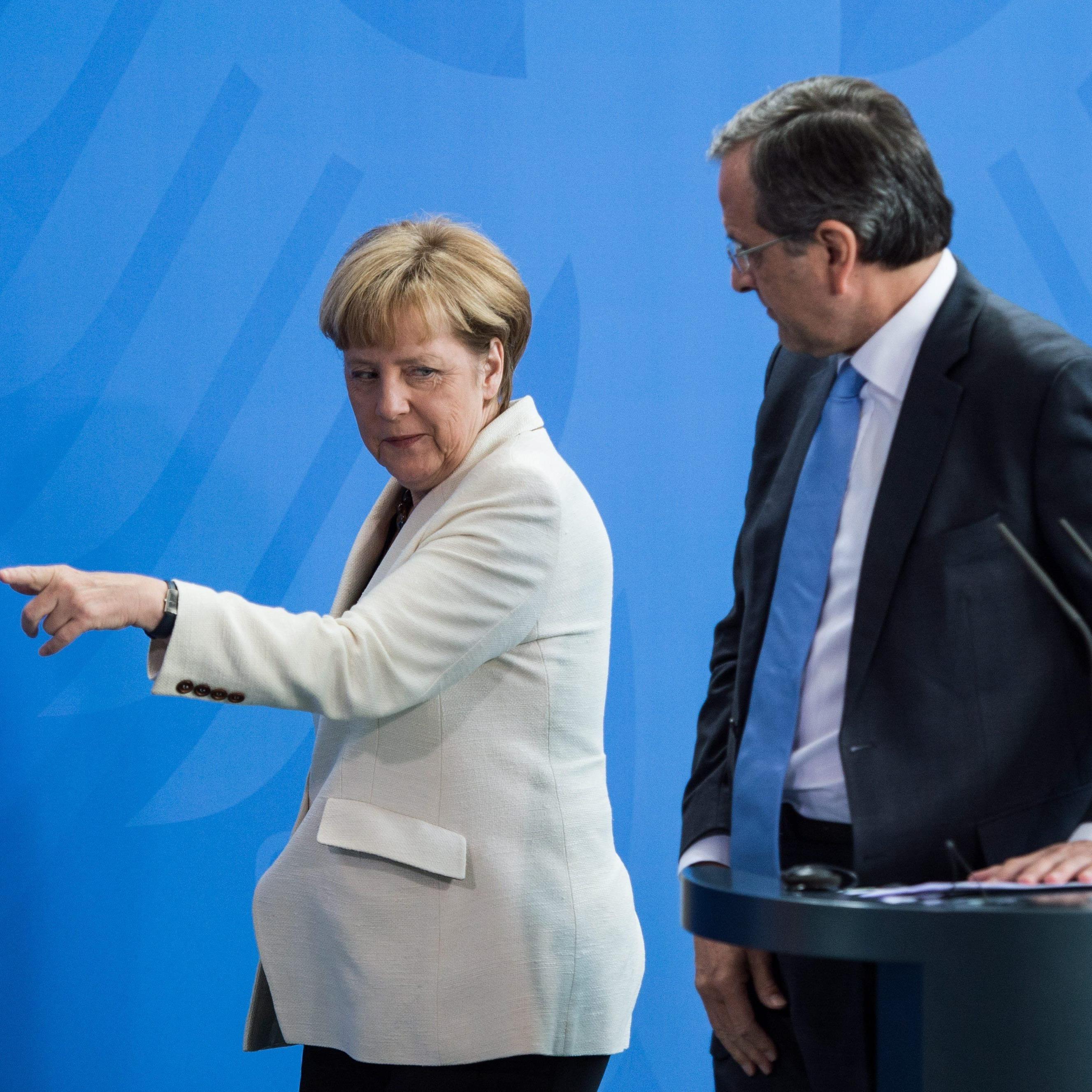 Angela Merkel und Griechenlands (Noch-?) Ministerpräsident Samaras.
