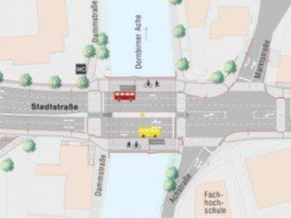 Neue Verkehrsführung auf der Dornbirner Stadtstraße