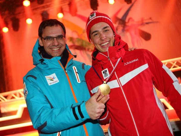 Goldjunge aus dem Montafon: Pascal Fritz wurde im Riesentorlauf der EYOF Erster.