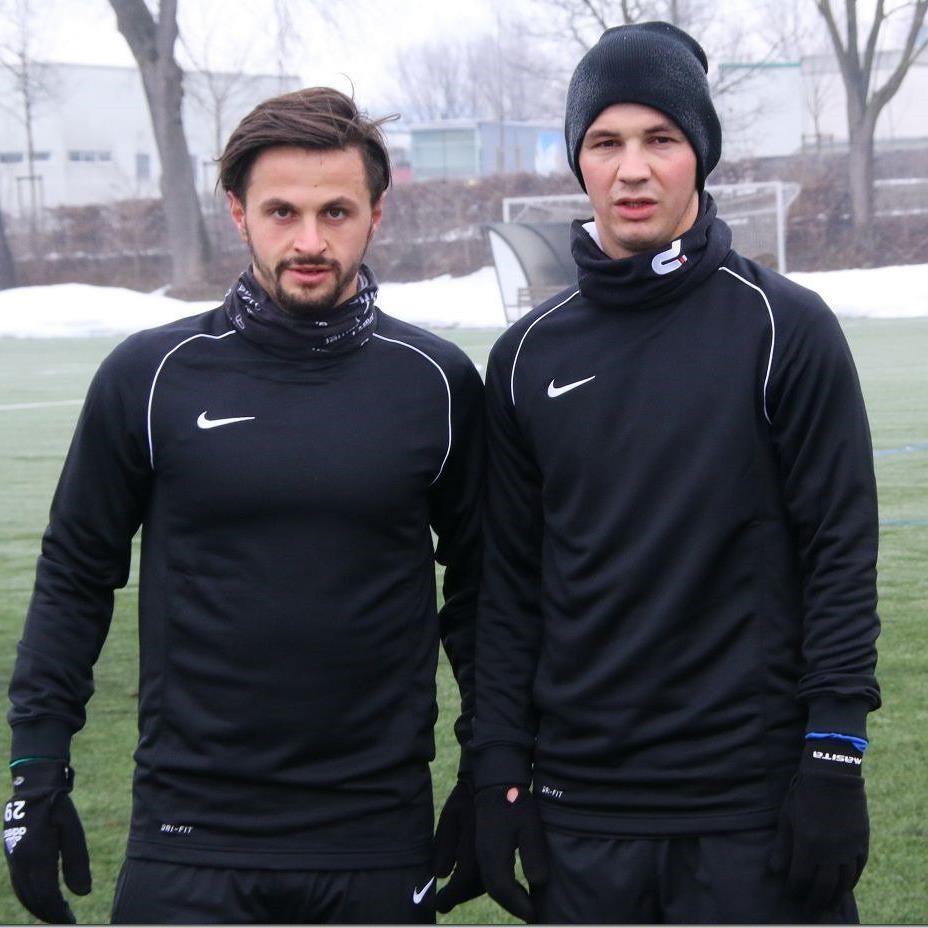 Edin Ibrahimovic (l.) und Adnan Secerovic sind bei Austria Lustenau auf Probe.
