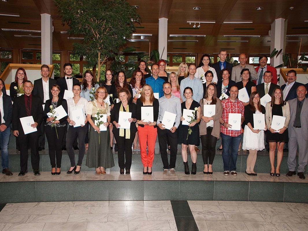 Maturavalet der Absolventen der Berufsreifeprüfung 2014