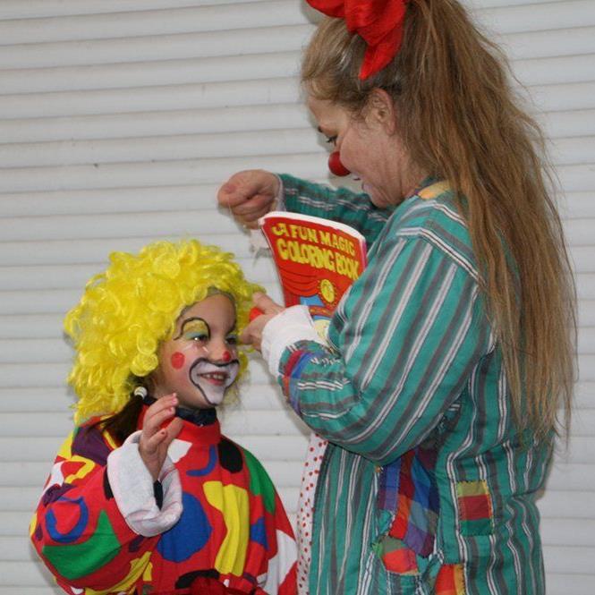 Clownfrau Blombine
