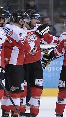 Erfolg für Österreichs Eishockey-Team