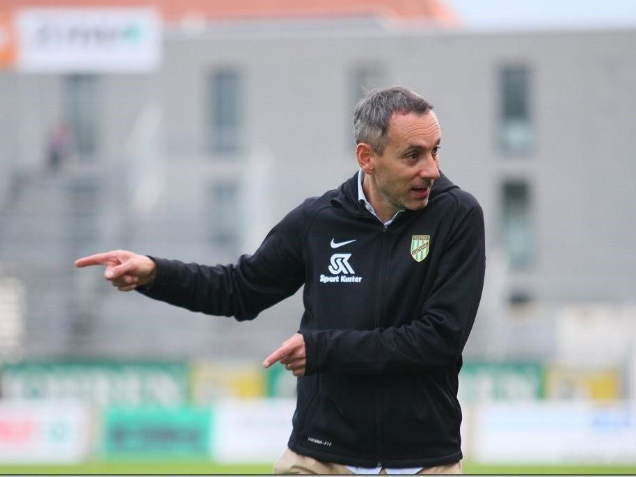 Austria Lustenau-Coach Mladen Posavec war mit seiner Mannschaft zufrieden.