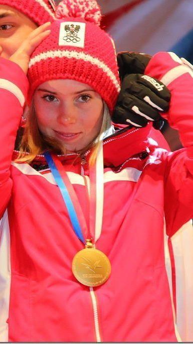 Beste im Jahrgang 1997: Katharina Liensberger legte eine Talentprobe ab.