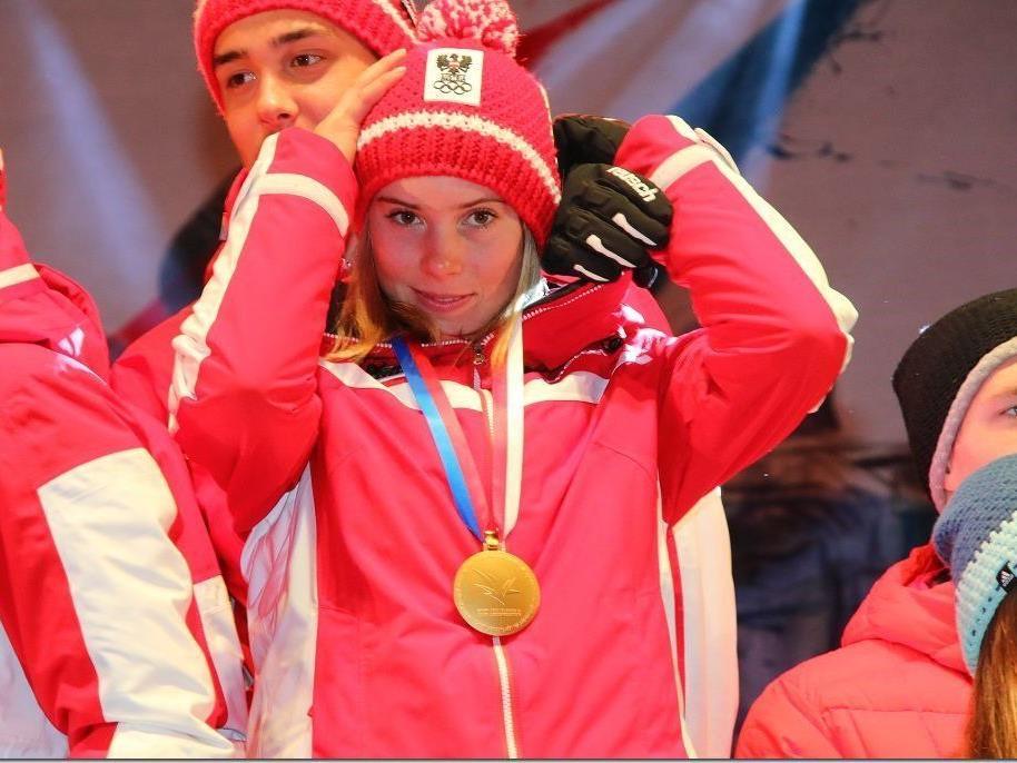 Gold und Silber für Katharina Liensberger bei den Jugendtitelkämpfen in der Steiermark.