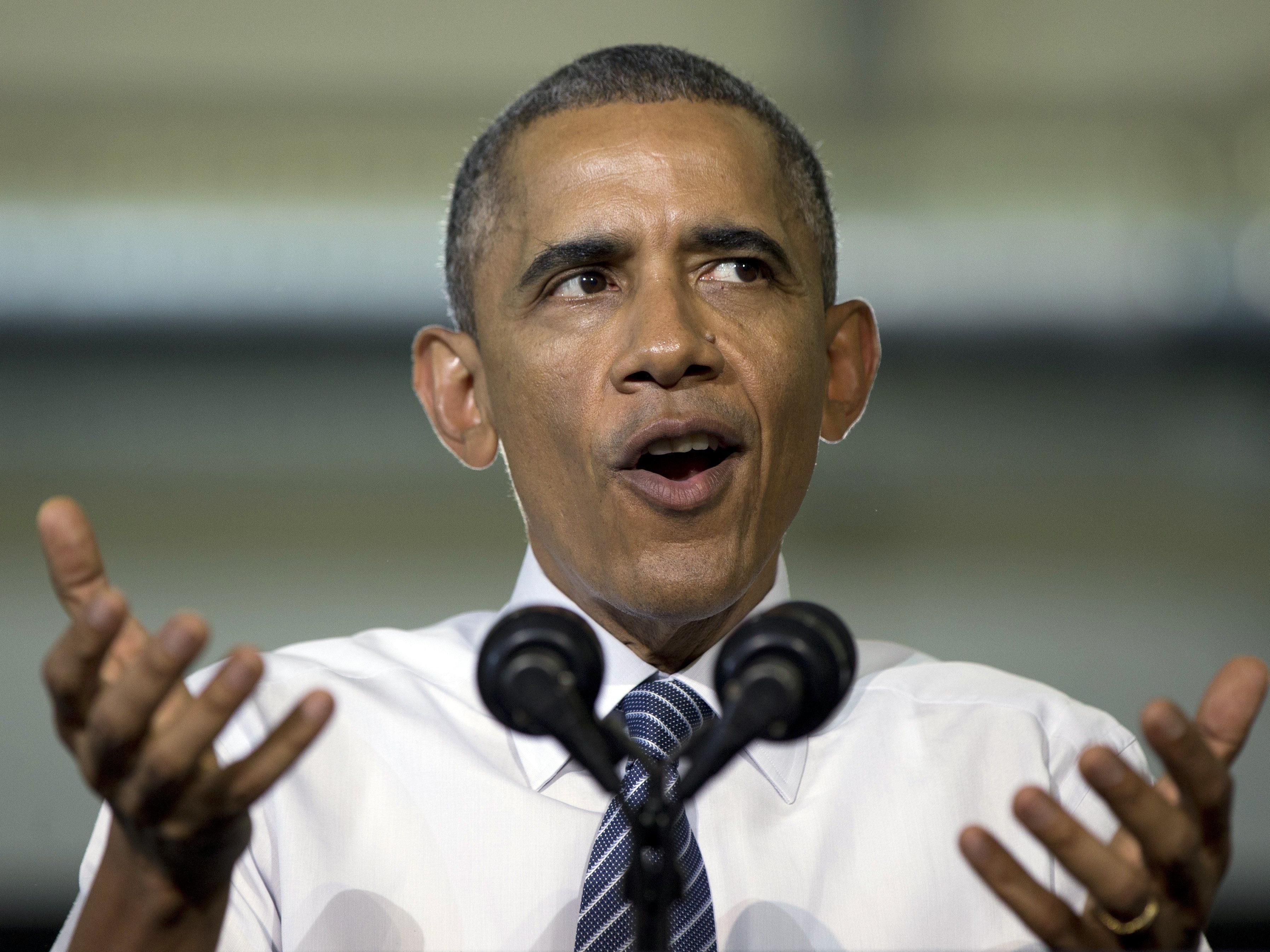 """Obama: Wirtschaft """"im freien Fall"""" braucht vor allem Wachstumsstrategie."""