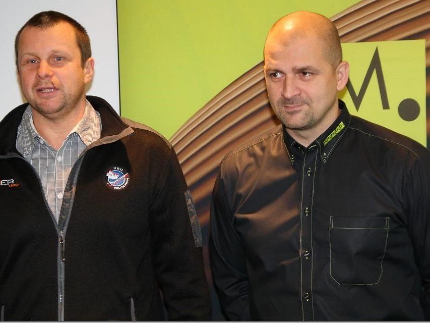 VEU Feldkirch-Coach Milos Holan und Michael Lampert hoffen, dass Kapfenberg antreten wird.