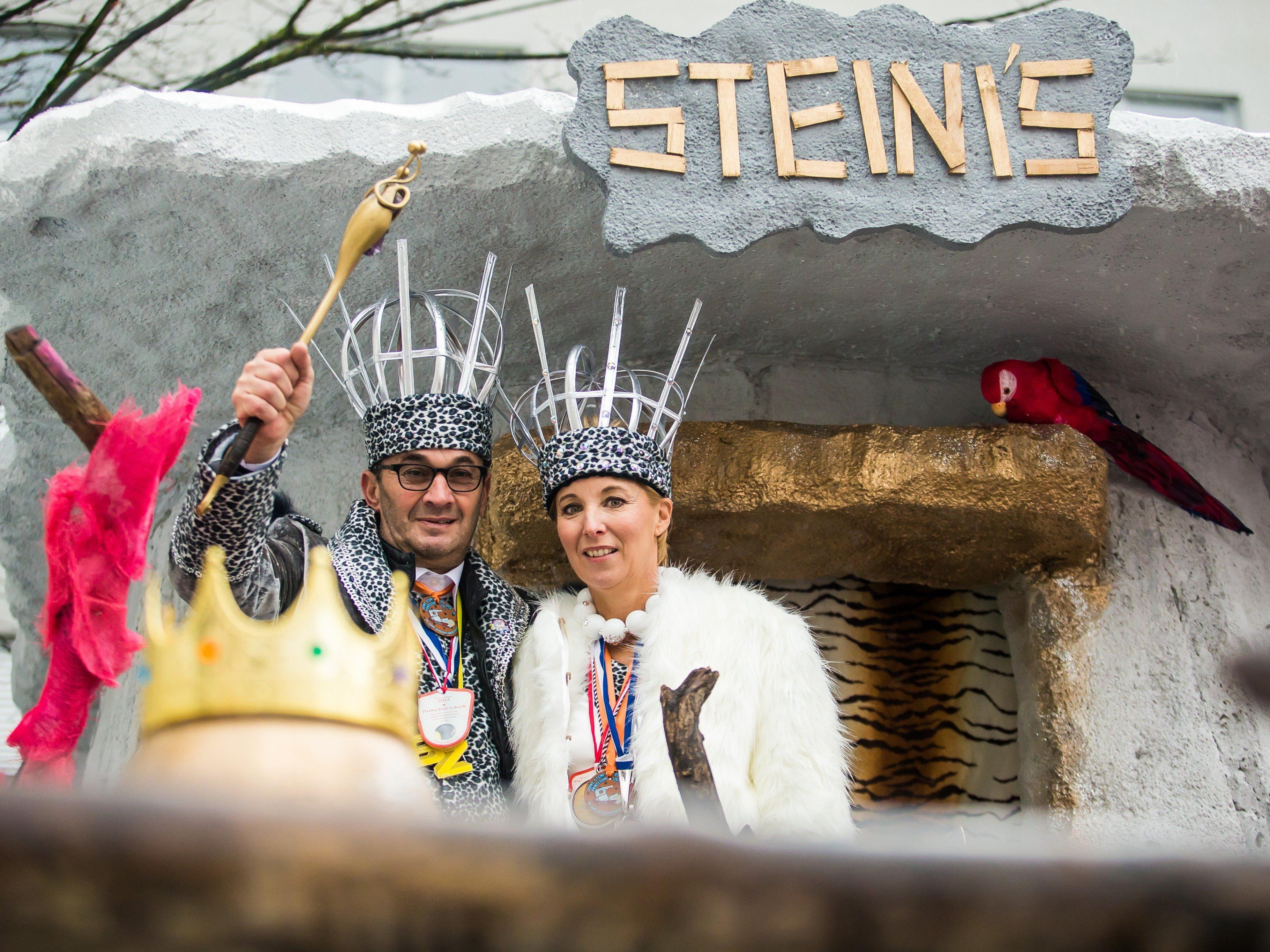 Prinz Steini I. und Prinzessin Lisi I. übernehmen am gumpiga Donnerstag die Landeshauptstadt Bregenz.