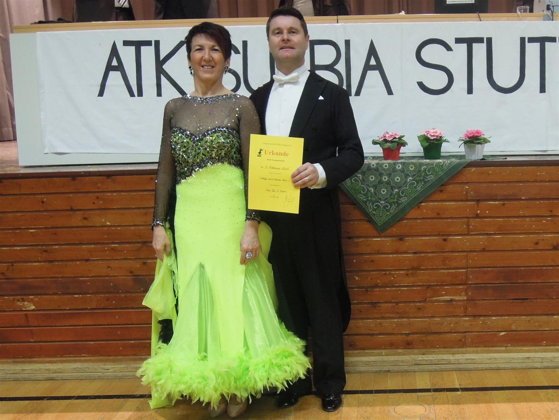 Das erfolgreiche Turnierpaar Helga und Otmar Dür