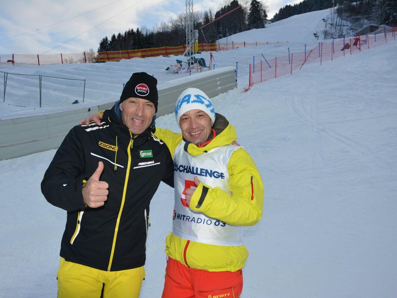 Jürgen Dreier (r.) mit Headcoach und Olympischer Sportler Hans Knauß.