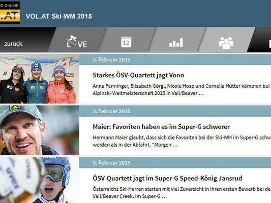 Das Datencenter auf VOL.AT hält alle relevanten Ski-WM-Infos bereit.