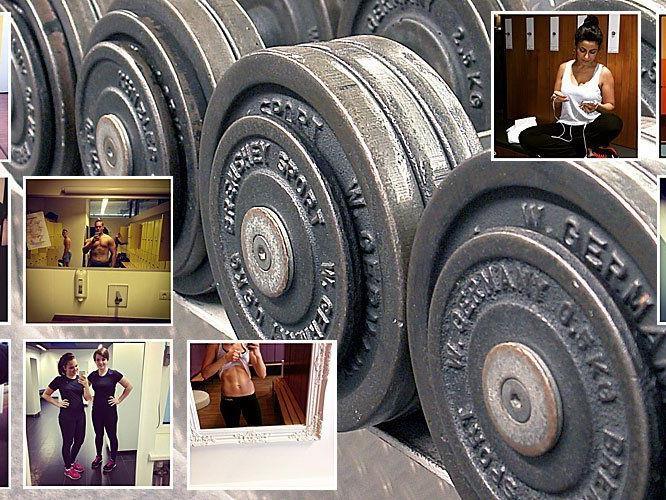 Selfies - Wo, wenn nicht im Fitnesscenter?