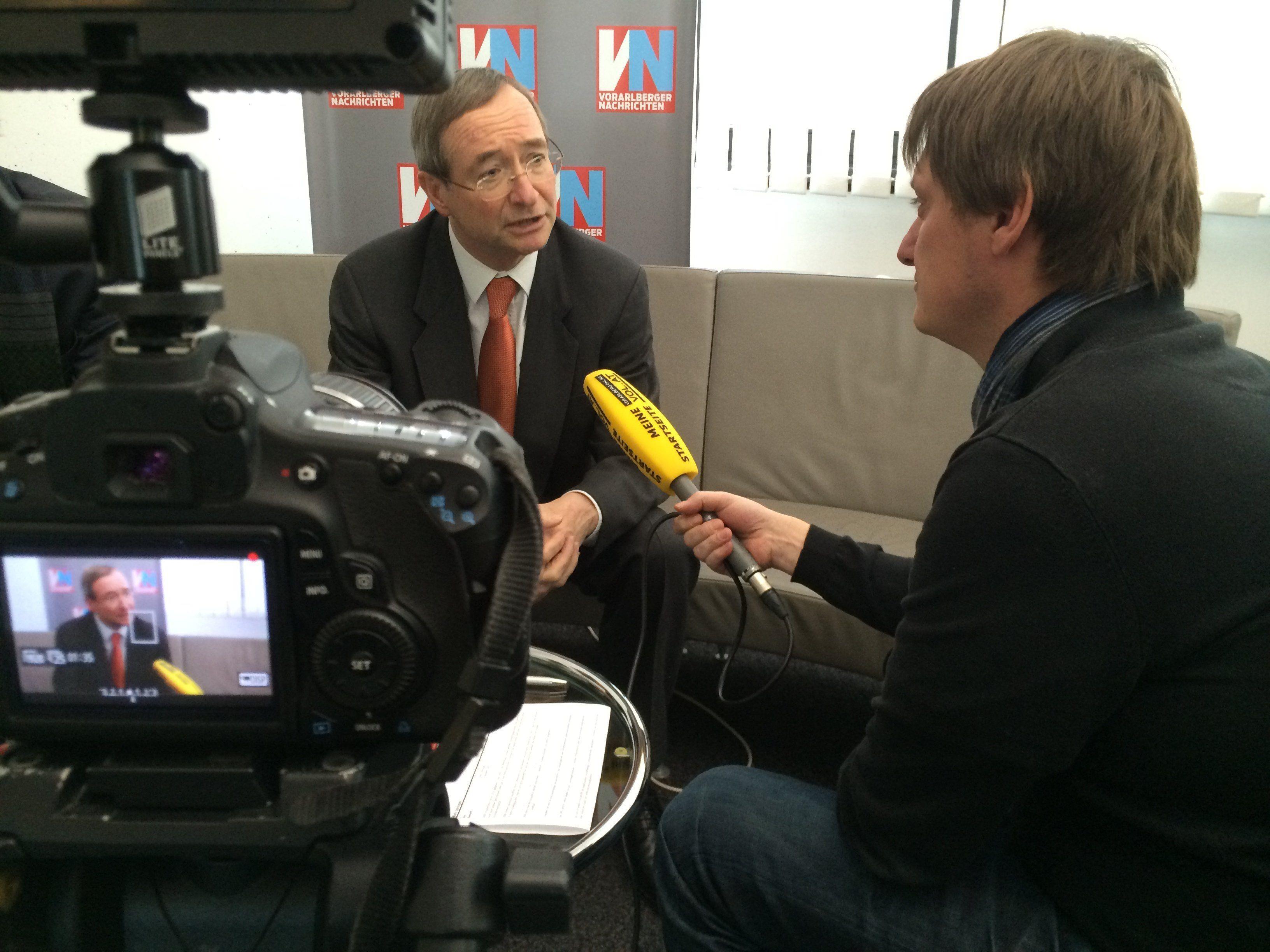 WKO-Präsident Christoph Leitl im VOL.AT-Interview mit CR Marc Springer.