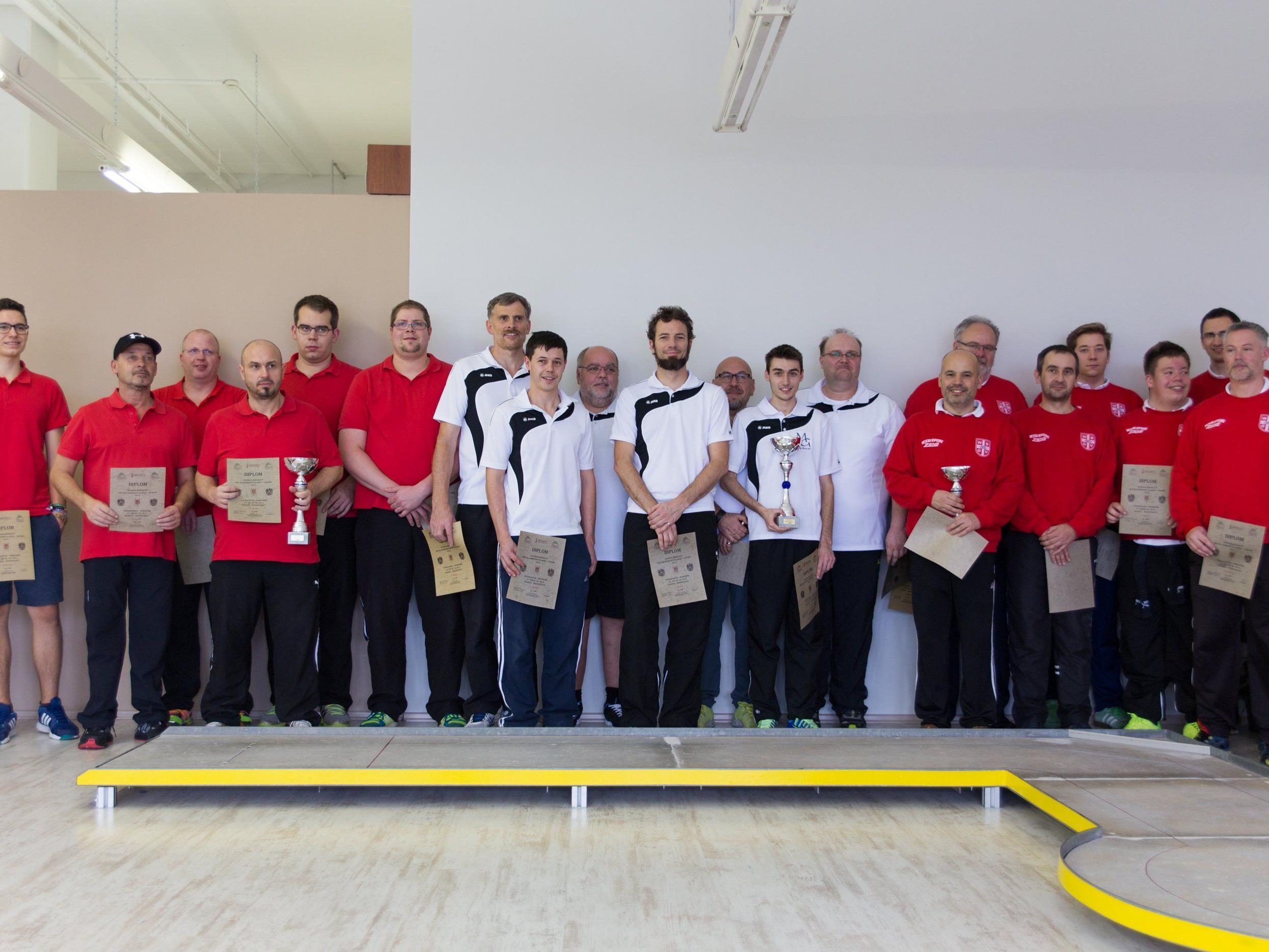 Die Herrenmannschaft beim Bundesländercup in Hohenems.