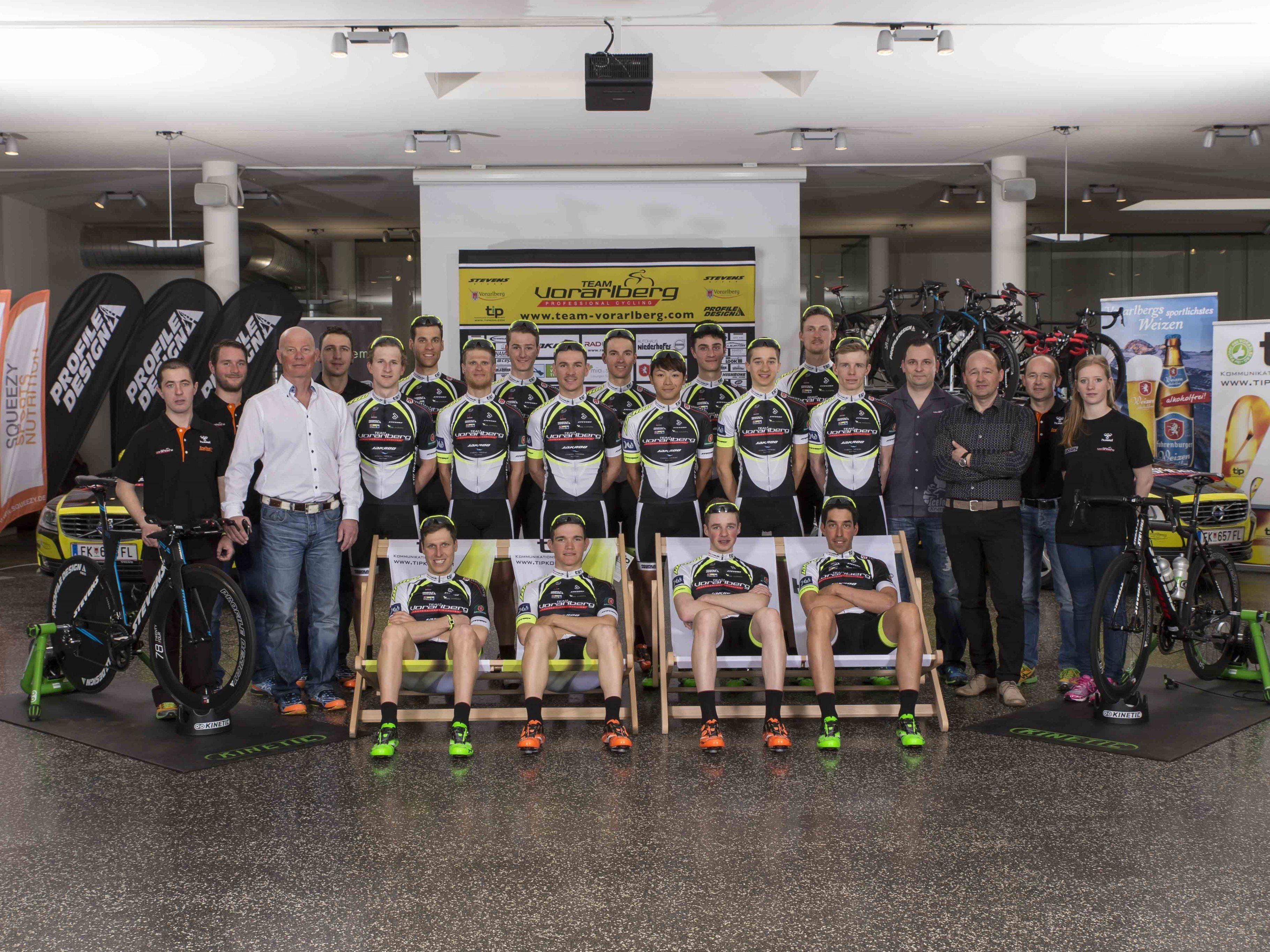 Fünfzehn Fahrer, davon zehn Neue, umfasst der heimische Profiradrennstall in dieser Saison.