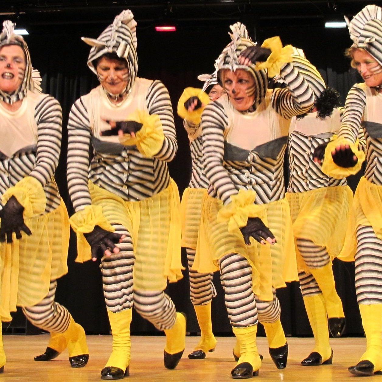 """Die """"Zebragruppe"""" hatte sichtlich Spaß!"""
