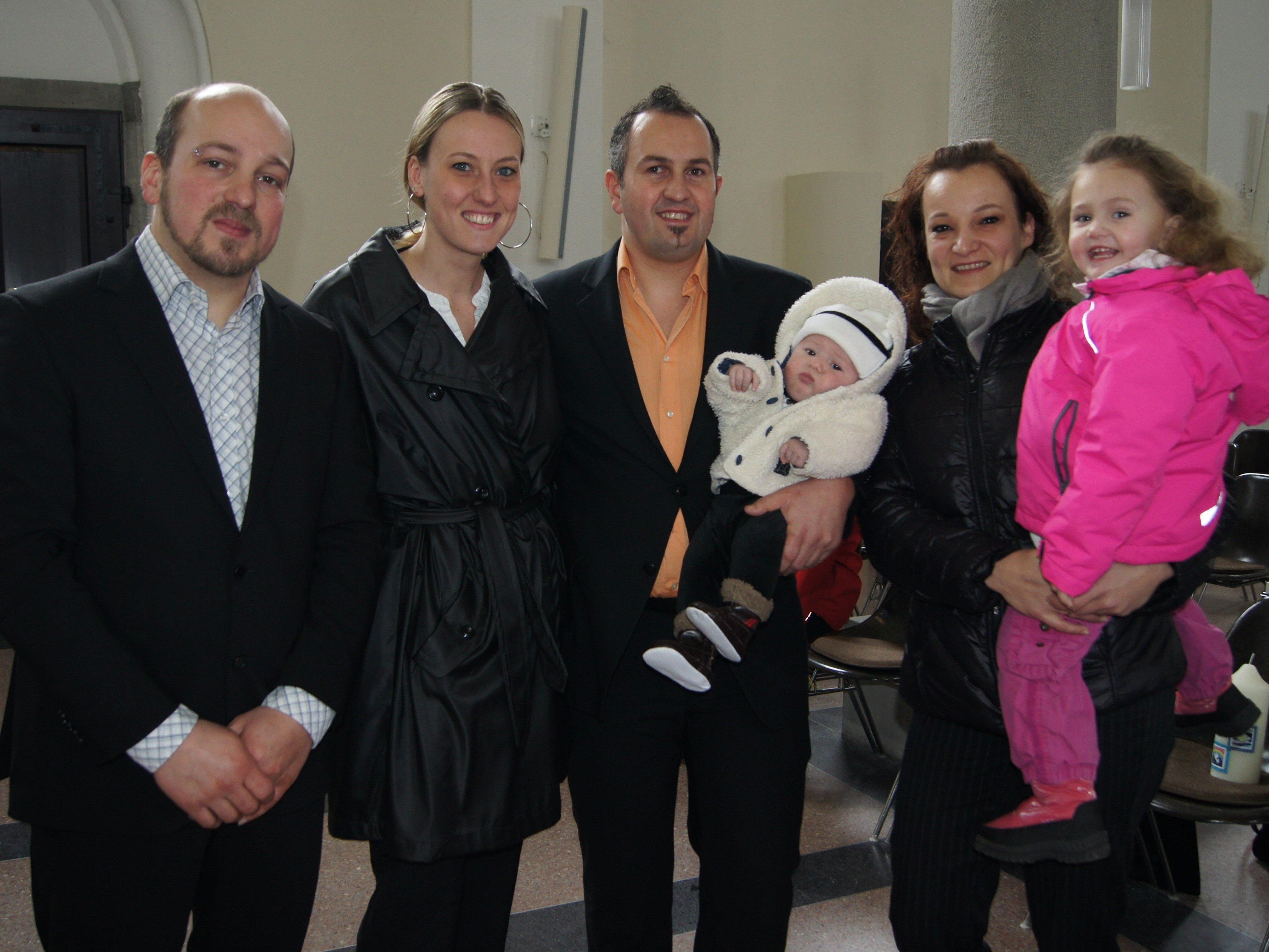 Taufe von Maximilian Mobers in der Pfarrkirche Hard.