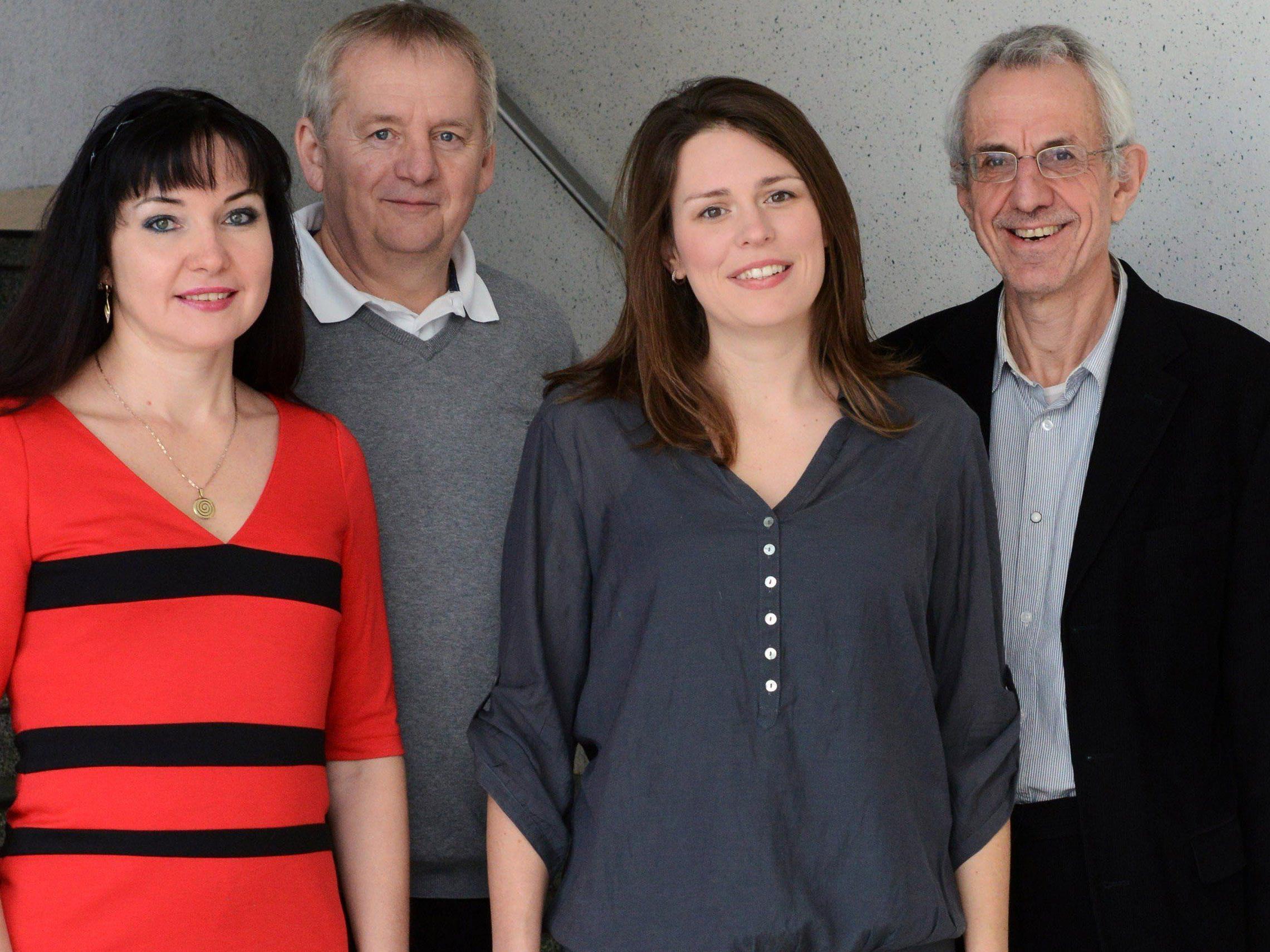 Team Soziale Demokraten und Unabhängige: v.li. Elena Karnowsky, GV Helmut Madlener, Mag. Vera Köpruner, GV Werner Nesensohn.