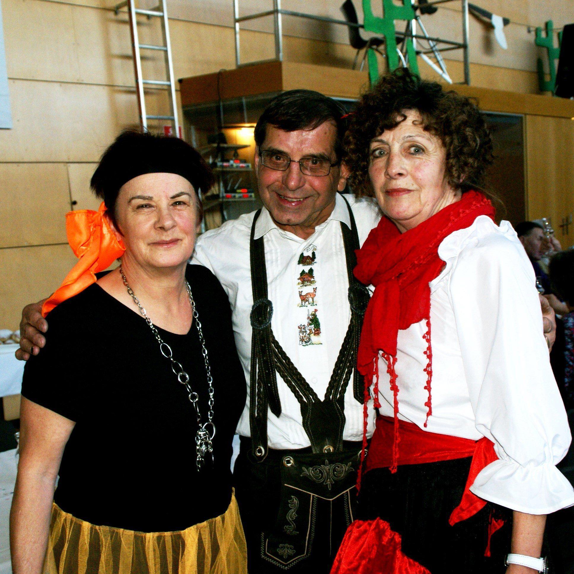 Herlinde, Josef und Rosmarie tanzten fleißig