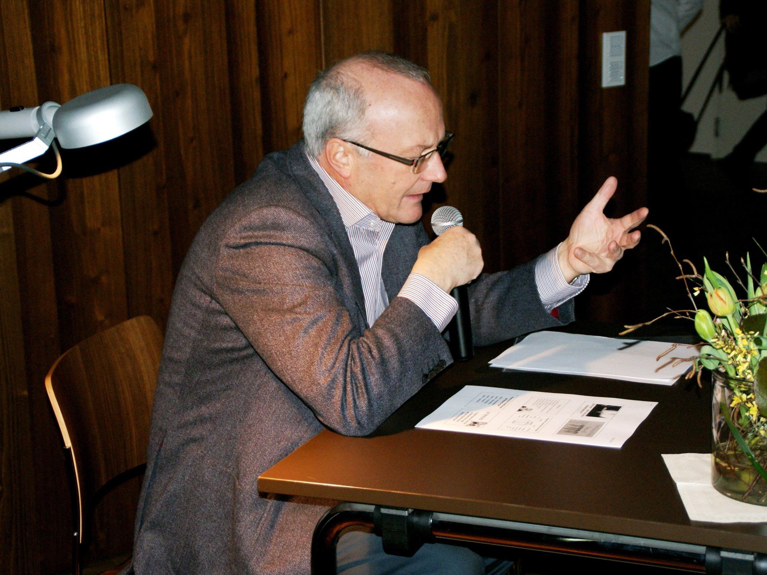 Reinhard Haller referierte über Burnout