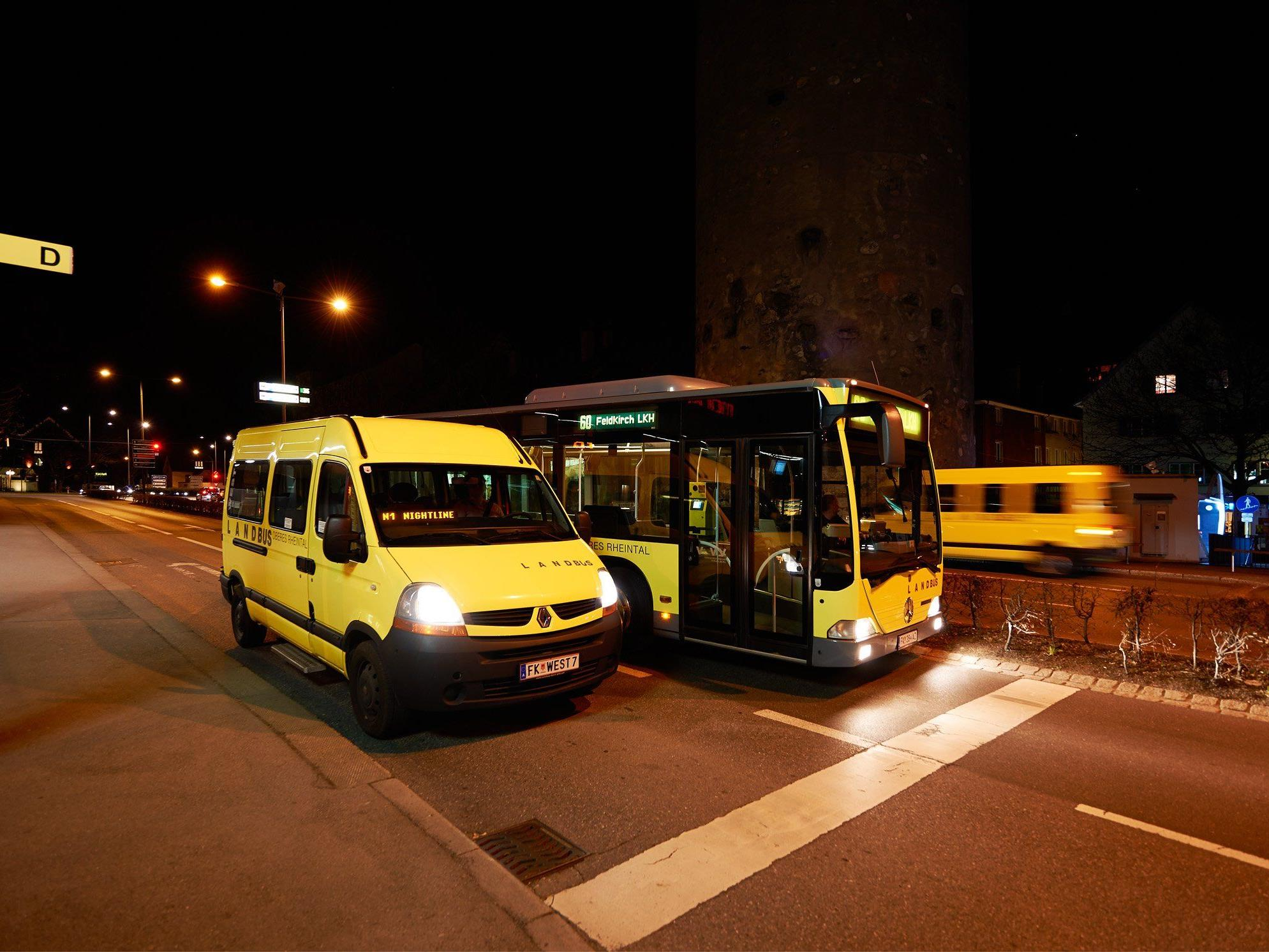 Im Raum Feldkirch/ Vorderland bieten sich Stadtbus Feldkirch und Landbus Oberes Rheintal als bequeme und sichere Alternative zum eigenen Auto an: Auch in der Nacht!