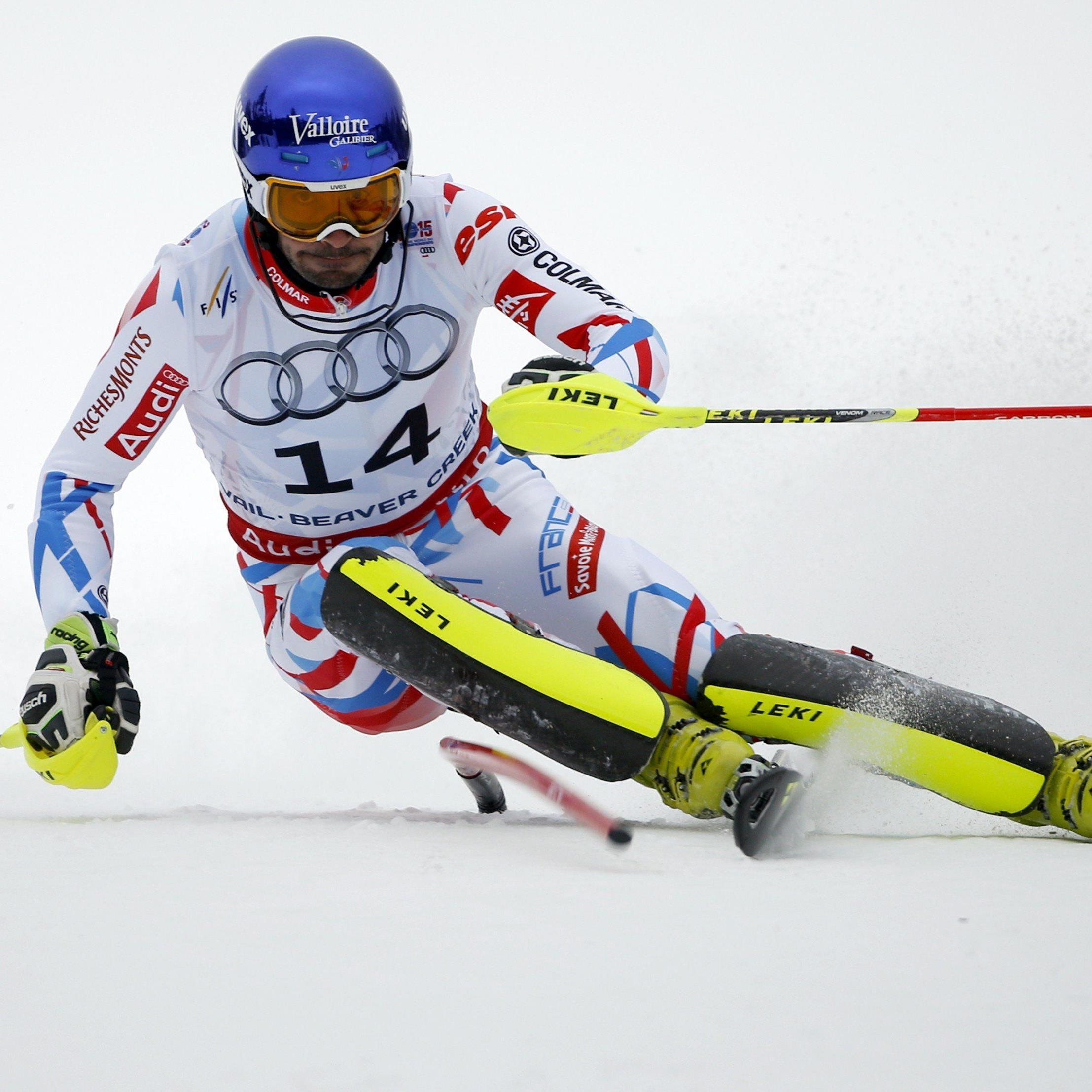 Der Franzose Grange holte sich den Titel im WM-Slalom.
