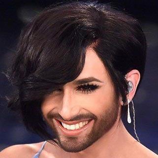 So sieht die neue Frisur von Conchita Wurst aus.
