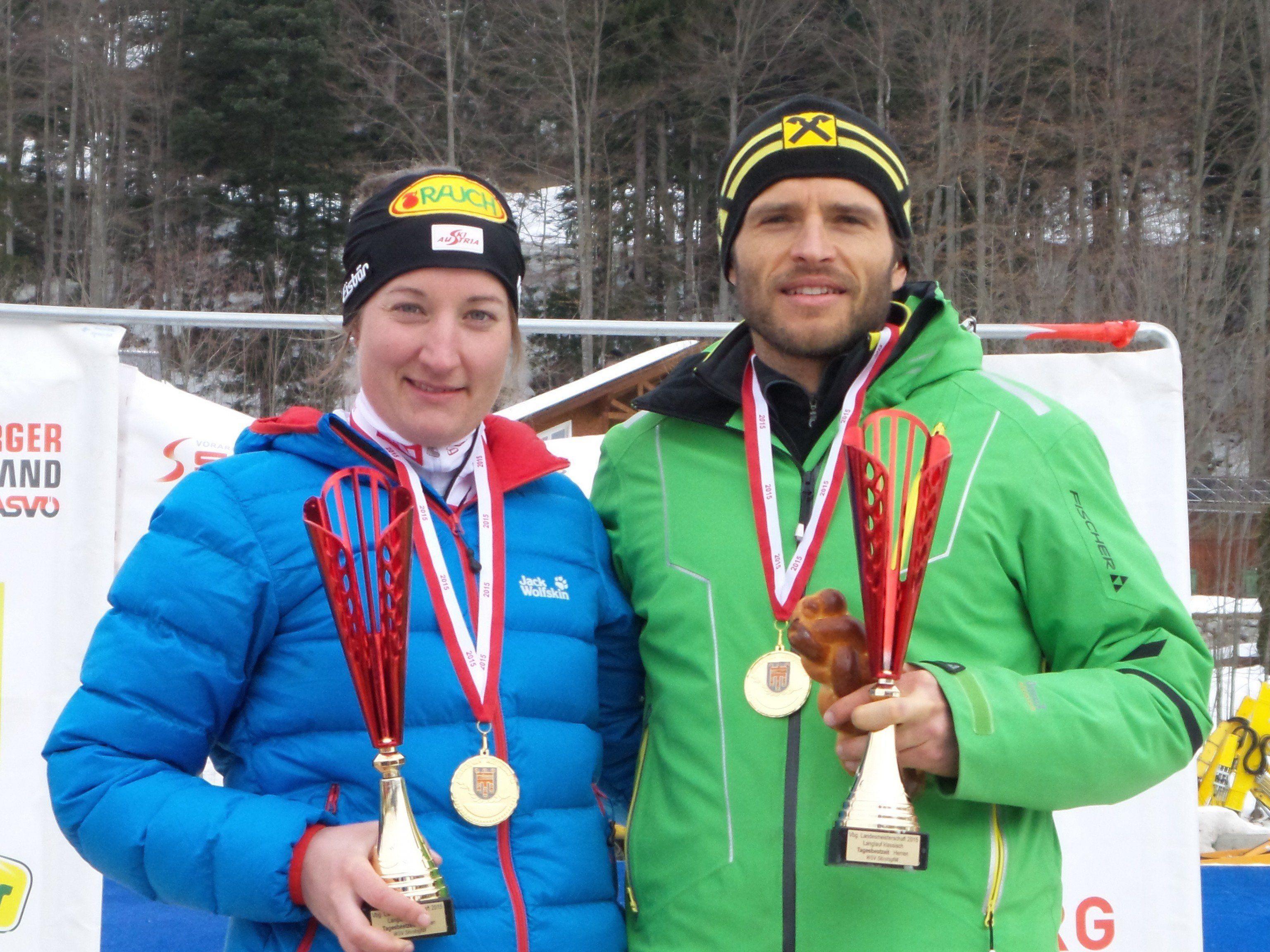 Ramona Düringer und Martin Sutter wurden neue Landesmeister.