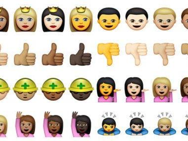 Apple macht den Anfang: Emoji mit unterschiedlichen Hautfarben.