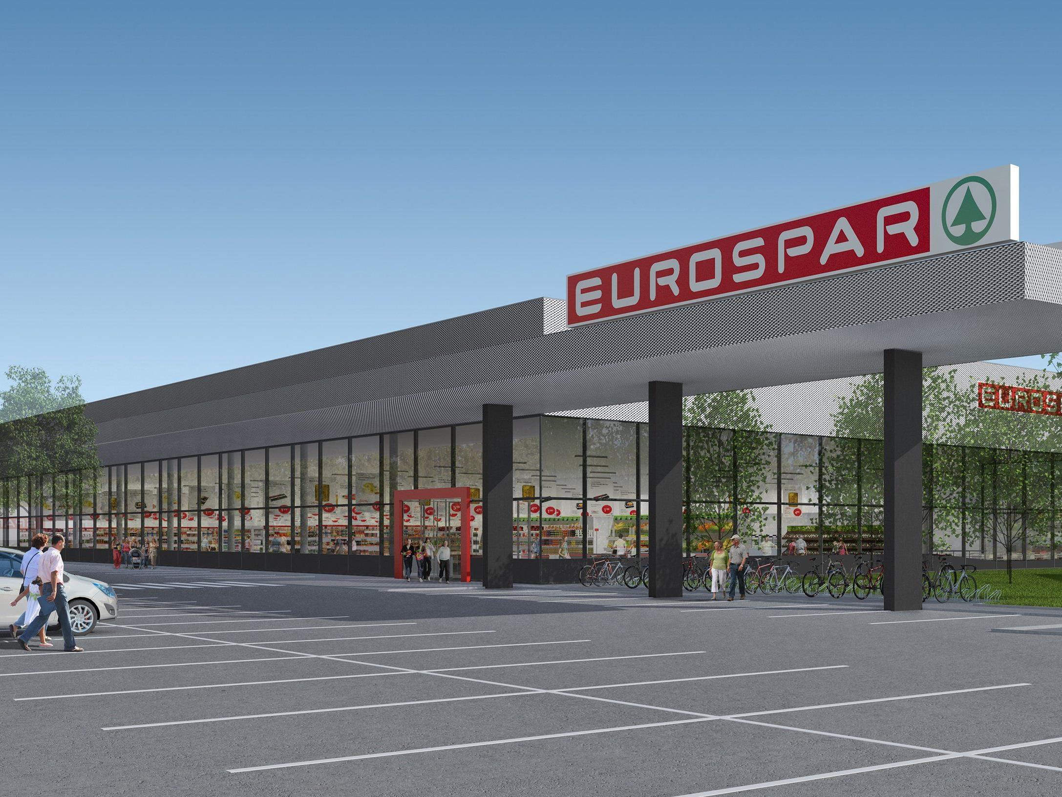 So wird der neue Eurospar im Schwefel ausschauen – auch eine Tiefgarage ist vorgesehen.