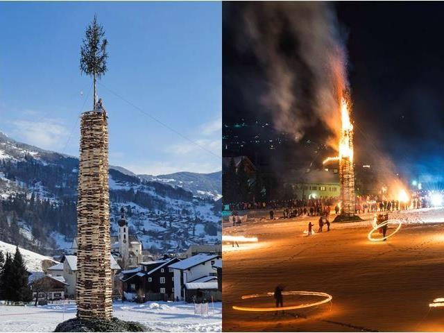 Winterbräuche im Montafon: Fasching und Funken.