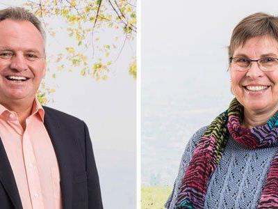 Die Spitzenkandidaten Metzler und Burgstaller wollen in Rankweil einen neuen Rekord für die Grünen.