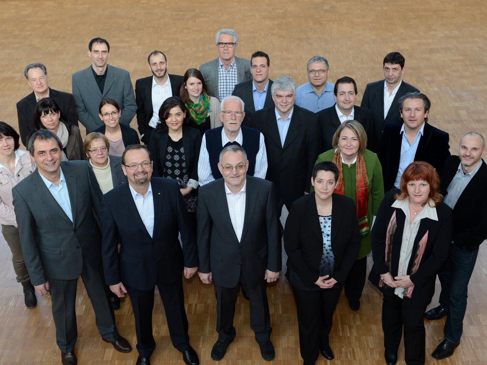 Das Team der ÖVP und Parteiunabhängigen in Mäder