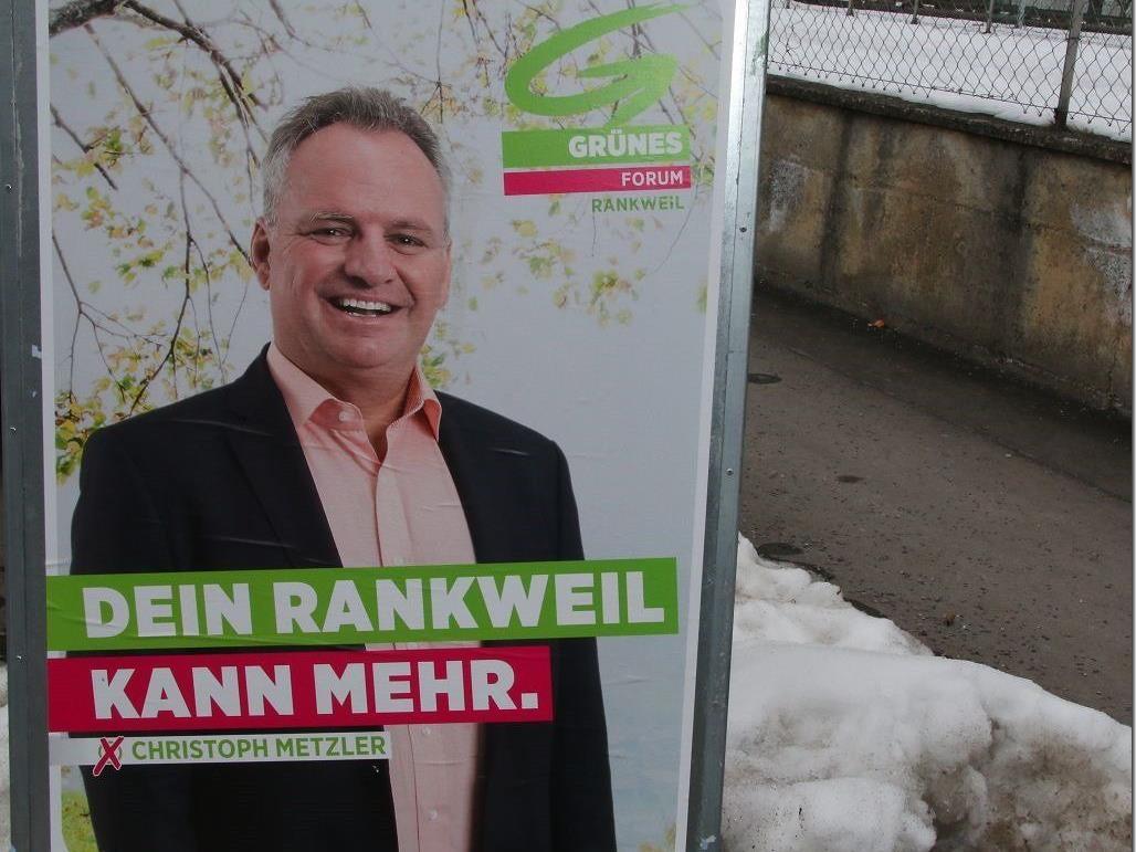 Mit vielen Plakatständen entlang der Rankweiler Straßen startet das Grüne Forum in den Wahlkampf.