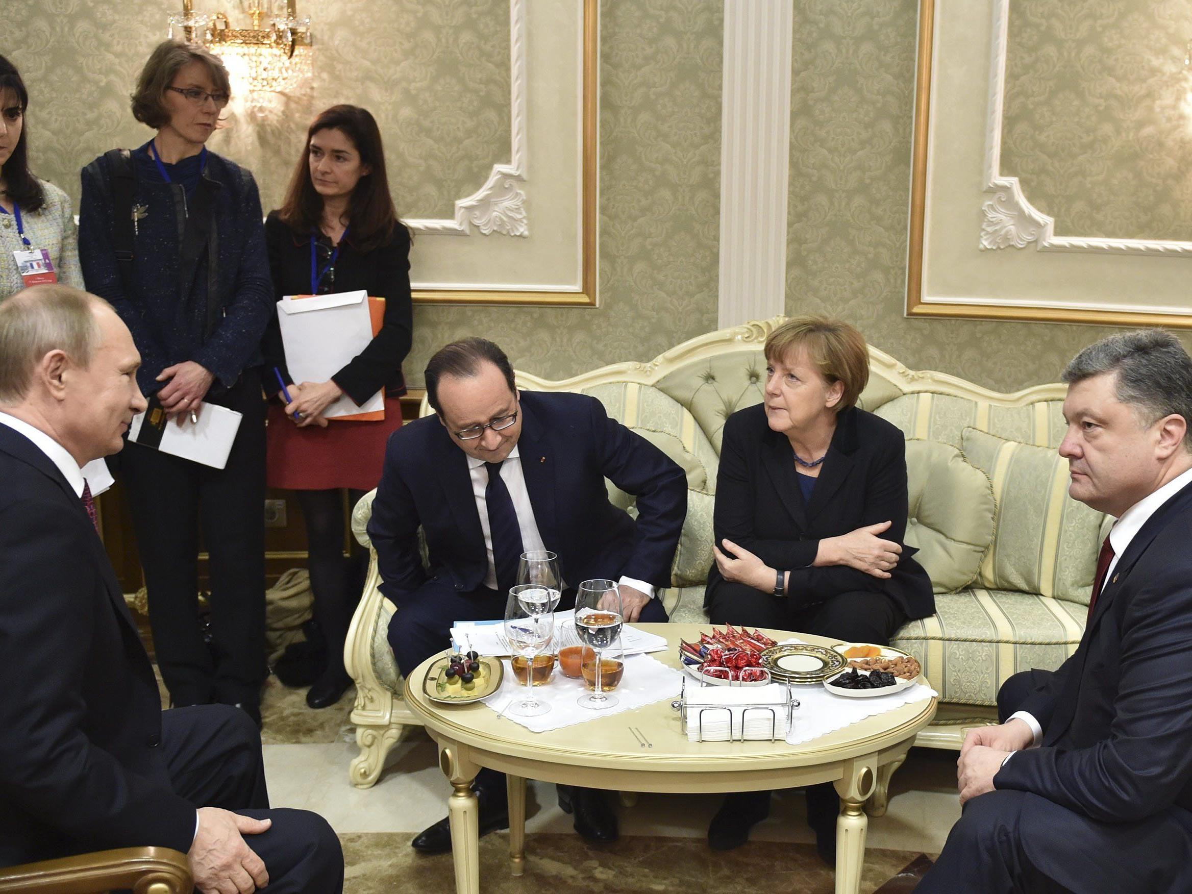 Der Runde Tisch, an dem die Ukraine-Krise abkühlen oder eskalieren könnte.