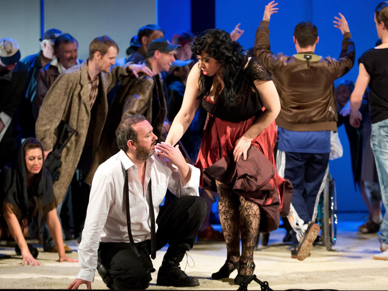 """Die Hauptdarsteller überzeugten mit guten Darbietungen das """"Carmen""""-Publikum."""