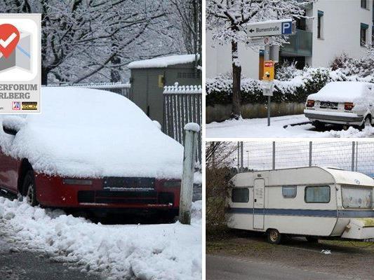 Abgestellte Autos erhitzen die Gemüter in Bregenz