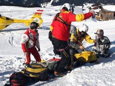 Viele Skiunfälle in Vorarlberg