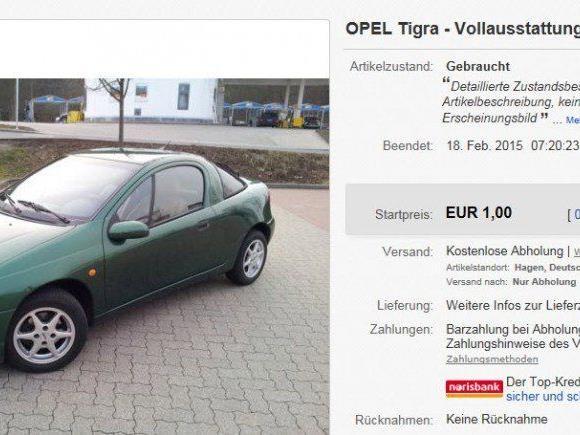 Über diese Anzeige redet halb Deutschland - © ebay.de