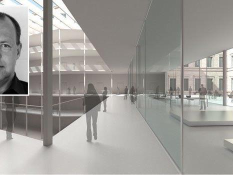 Rendering vom Erweiterungsbau der Universität für angewandte Kunst